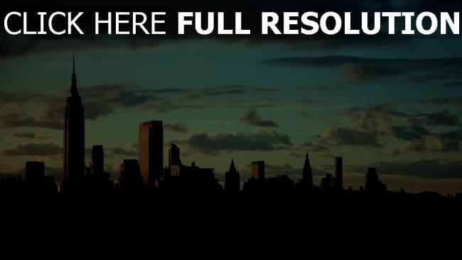 hd hintergrundbilder empire state building new york manhattan