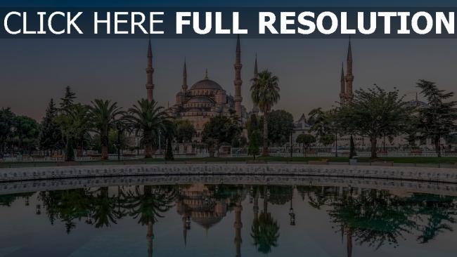 hd hintergrundbilder palast blaue moschee türkei istanbul