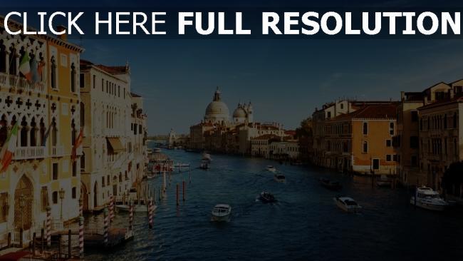 hd hintergrundbilder venedig kanal gebäude italien