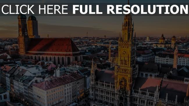 hd hintergrundbilder münchen stadt deutschland bayern
