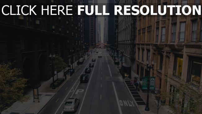 hd hintergrundbilder straße hochhäuser zählen chicago