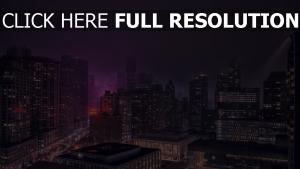 gebäude hochhäuser nachtlichter new york