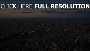 metropole höhe tokio japan panorama