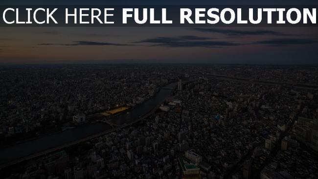 hd hintergrundbilder metropole höhe tokio japan panorama