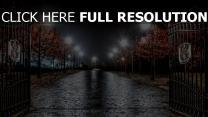 england gasse nacht lichter tore