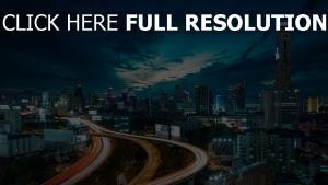 wolkenkratzer bridge verkehr stadt großstadt