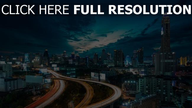hd hintergrundbilder wolkenkratzer bridge verkehr stadt großstadt