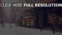 stadt straße winter schnee europa