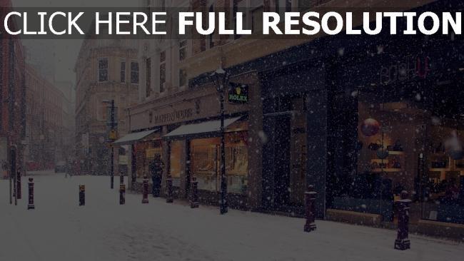 hd hintergrundbilder stadt straße winter schnee europa