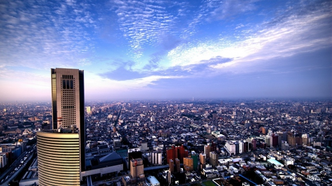 hd hintergrundbilder stadt großstadt hochhäuser himmel berg