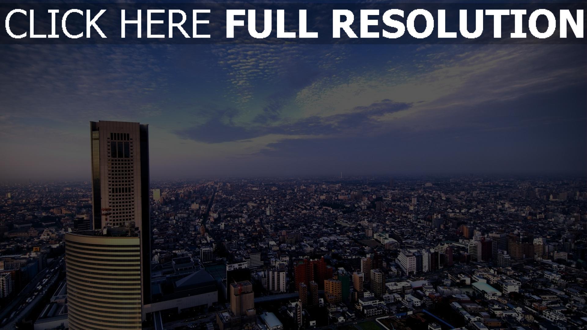 hd hintergrundbilder stadt großstadt hochhäuser himmel berg 1920x1080