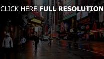 straße großstadt haus werbung new york