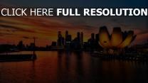 singapur sonnenuntergang licht hochhäuser