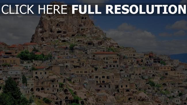 hd hintergrundbilder stadt häuser berge höhe turkey
