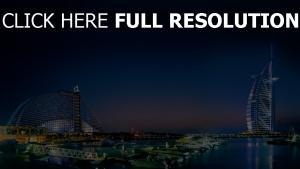 dubai meer stadt lichter vereinigte arabische emirate