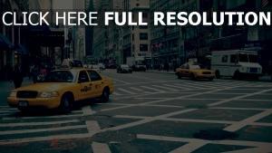 taxi straße markierungen new york