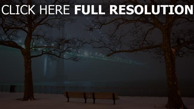 hd hintergrundbilder damm brücke winter schnee san francisco