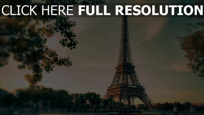 hd hintergrundbilder paris eiffelturm landschaft stadt