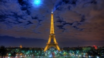 paris nacht licht eiffelturm