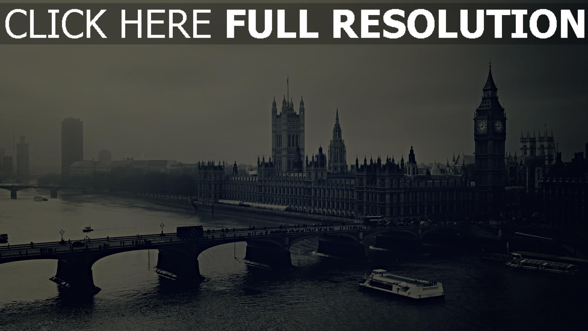 HD Hintergrundbilder brücke themse nacht big ben london ...