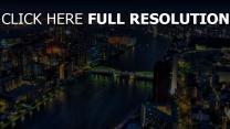 brücke gebäude hochhäuser lichter tokyo
