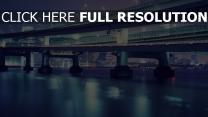 brücke tokyo lichter wolkenkratzer