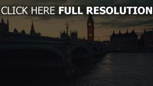 brücke abend big ben london thames