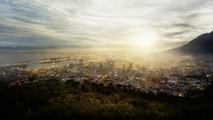 stadt panorama sonne licht kapstadt
