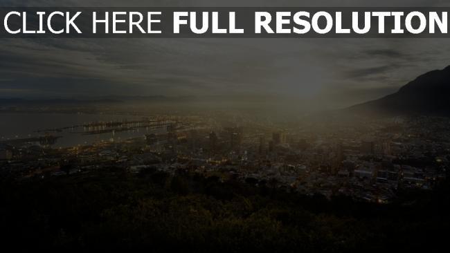 hd hintergrundbilder stadt panorama sonne licht kapstadt