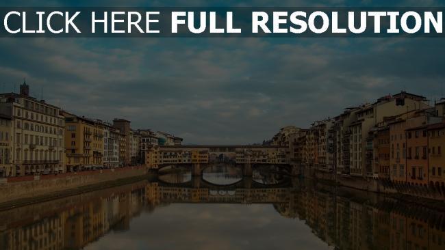 hd hintergrundbilder italien florenz ponte vecchio