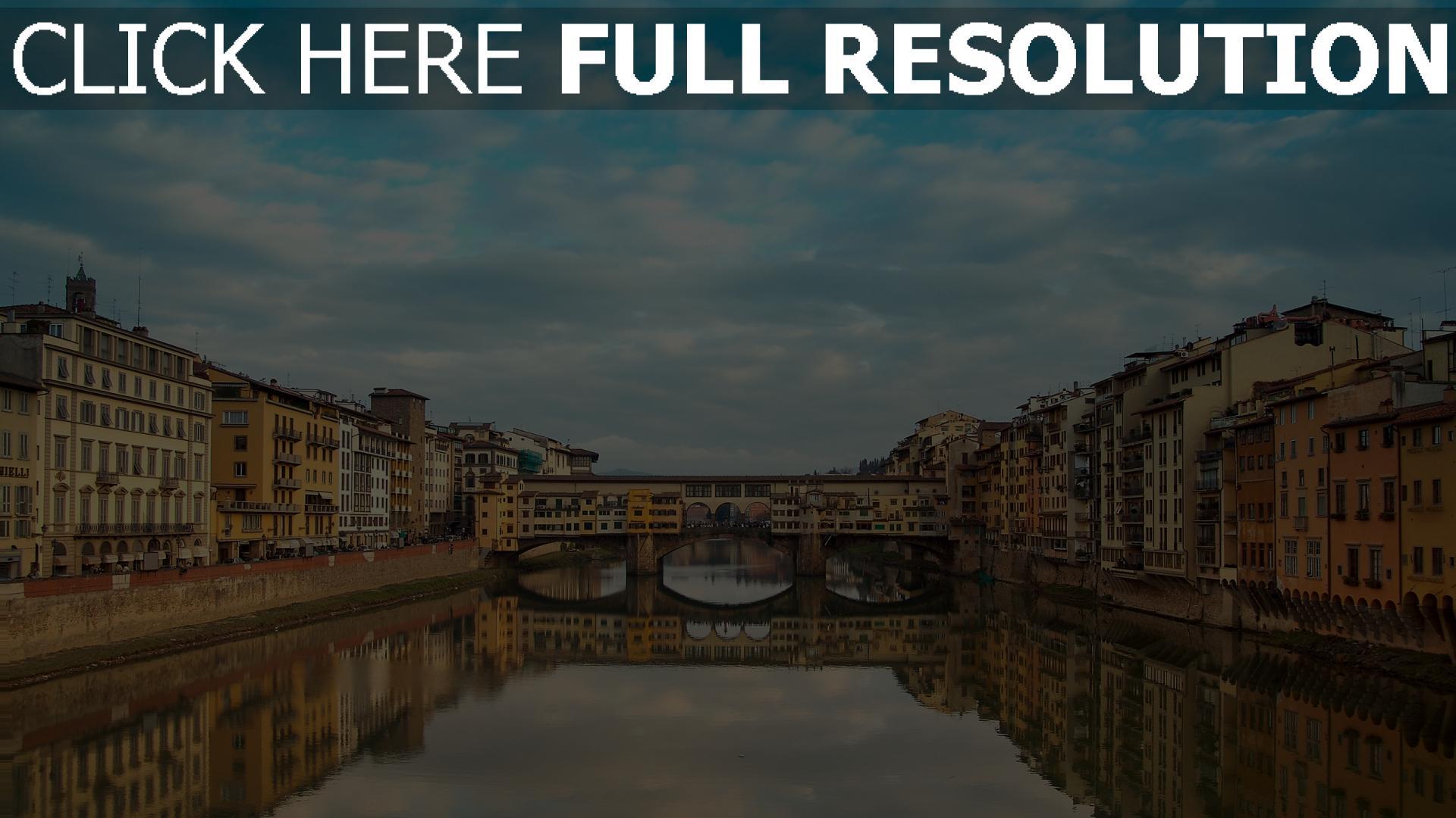 hd hintergrundbilder italien florenz ponte vecchio 1920x1080