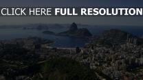 rio de janeiro ausblick von oben brasilien