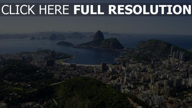 hd hintergrundbilder rio de janeiro ausblick von oben brasilien