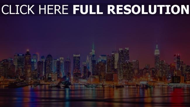 hd hintergrundbilder stadt jersey manhattan der hudson fluss new york usa
