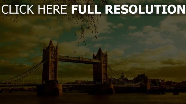 hd hintergrundbilder brücke himmel sommer fluss london