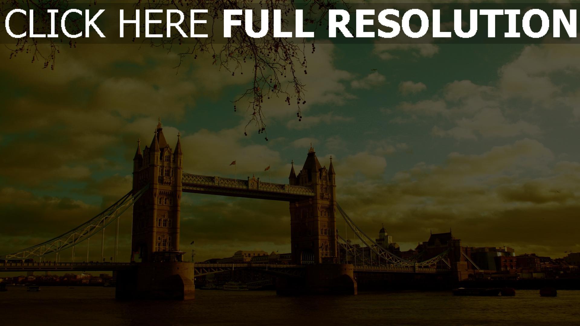 HD Hintergrundbilder brücke himmel sommer fluss london ...