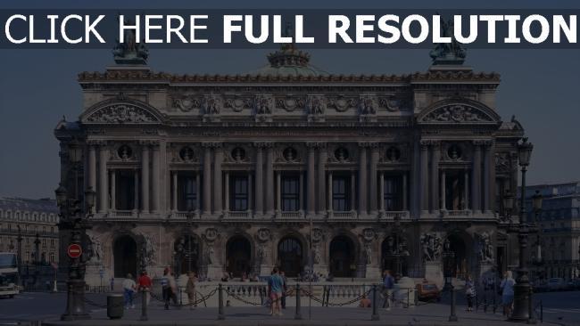 hd hintergrundbilder paris zivilisation wahrzeichen kultur große oper