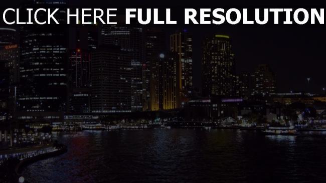 hd hintergrundbilder australien nacht sydney