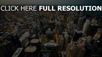 skyline küste lichter der stadt chicago