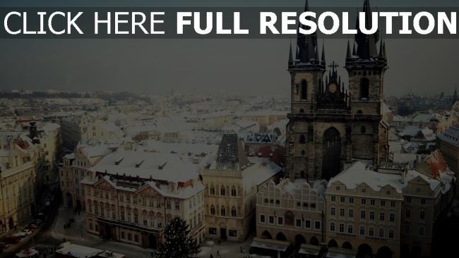 hd hintergrundbilder tschechisch tschechien aufsicht stadt prag