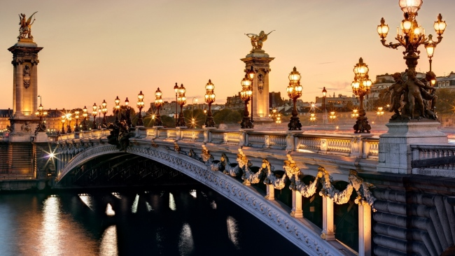 hd hintergrundbilder paris alexander brücke frankreich