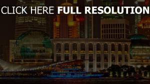 gebäude wolkenkratzer nacht shanghai