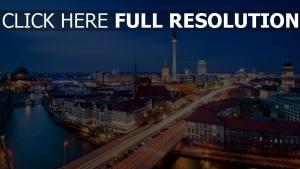 berlin nacht stadt straße die architektur haus spree panorama