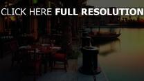 cafés sonnenuntergang abend boote promenade