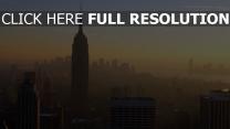 dämmerung gebäude wolkenkratzer nebel new york