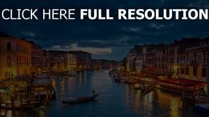 venedig fluss gondeln italien
