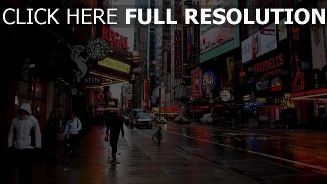 hd hintergrundbilder bedeckt gebäude werbung new york