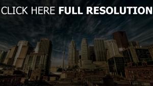 toronto häuser himmel wolken kanada stadt