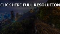 nacht wolkenkratzer hügel hongkong