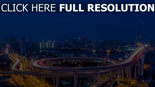hd hintergrundbilder fluss shanghai huangpu nanpu brücke